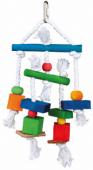 Дървени шарена играчки 24 cм. - 58985