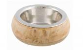 Купа от неръждаема стомана с дървен държач - 24825