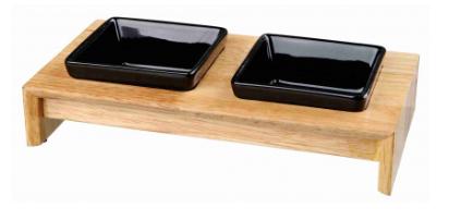 Керамични купички на дървена  стойка